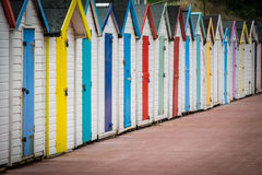 Colorful beach huts Royalty Free Stock Photos
