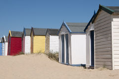 Colorful Beach Huts at Southwold, Suffolk, U. A row of beach huts at Southwold, Suffolk, UK Stock Images