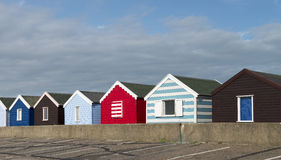 Colorful Beach Huts at Southwold, Suffolk, U Stock Image