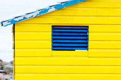 Colorful beach huts at St. James Bay near Simons Town Western Ca. Bright Crayon-Colored Beach Huts at St James, False Bay on Indian Ocean, outside of Cape Town royalty free stock image