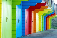 Colorful beach huts Stock Photo