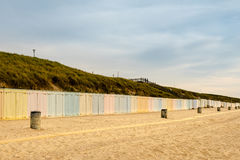 Colorful beach lockers Royalty Free Stock Image