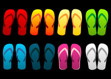 Colorful beach sandals Royalty Free Stock Image