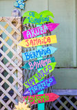 Colorful Beach Sign Royalty Free Stock Photo