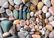 Colorful beach stones Royalty Free Stock Photography