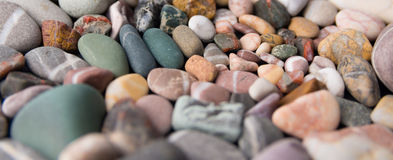 Colorful beach stones Stock Photo