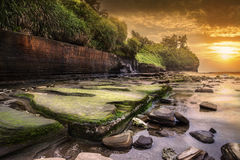 Colorful beach sunset,Weizhou Island Royalty Free Stock Photography