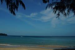 Colorful beach in Thailand on Phuket island Stock Image