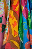 Colorful beach towels Stock Image