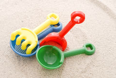 Colorful Beach Toys Stock Photo