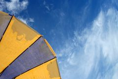 Colorful Beach Umbrella. Against The Sun Light at Andaman Sea royalty free stock images