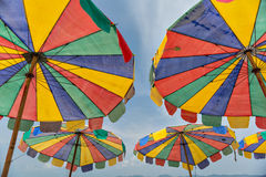 Colorful beach umbrella Royalty Free Stock Image