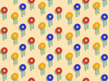 Colorful beach umbrella. Seamless pattern. Stock Images