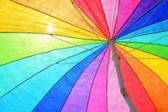 Colorful Beach Umbrella Stock Photography