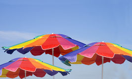 Colorful Beach Umbrellas Stock Images
