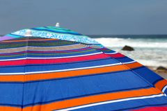 Colorful Beach Umbrellas Stock Image