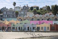 Colorful Beachfront Property Stock Photo