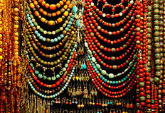 Colorful bead in the bazaar. Istanbul royalty free stock photos