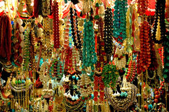 Colorful bead in the bazaar. Istanbul stock photo