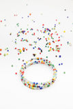 Colorful bead bracelet. On  background Stock Photography