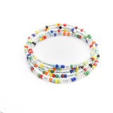 Colorful bead bracelet. On isolated background Royalty Free Stock Photo