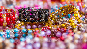 Colorful bead bracelets Royalty Free Stock Image