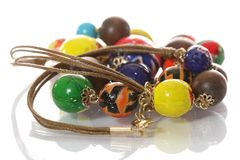 Colorful bead necklace Stock Image