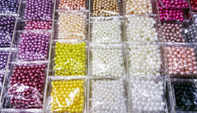 Colorful bead in transparency plastic bag. For design work Royalty Free Stock Photo