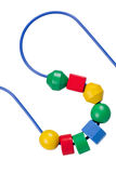 Colorful bead and wire toy Royalty Free Stock Photography