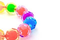 Colorful beaded bracelet Stock Photos