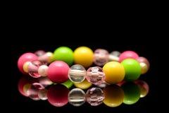 Colorful beaded bracelet Stock Photo