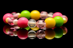 A colorful beaded bracelet Royalty Free Stock Photos