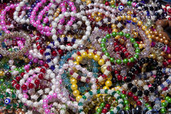 Colorful Beaded Bracelets Royalty Free Stock Photos