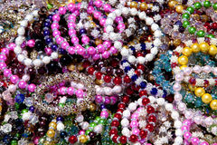 Colorful Beaded Bracelets Stock Photography