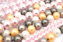 Colorful beads. Decorative with colorful bead necklace Stock Photo