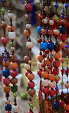 Colorful beads. Tied together in a market in Chiang Mai, Thailand Royalty Free Stock Photos