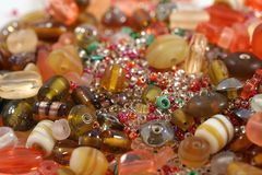 Colorful beads. Close up of colorful beads Royalty Free Stock Photo