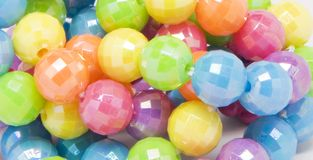 Colorful beads Stock Images