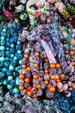 Colorful beads according to the art of contemporary mountaineers from Zakopane Royalty Free Stock Images