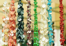 Colorful beads background Stock Image