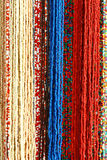 Colorful Beads Background. Red and blue royalty free stock photos