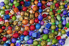 Colorful beads background Stock Photo