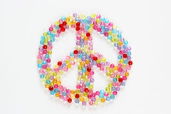 Colorful beads for background peace Royalty Free Stock Photos