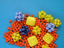 Colorful beads royalty free stock photos