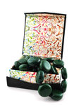 Colorful Beads Box Stock Photo