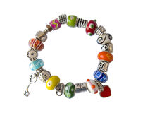 Colorful beads braceler Royalty Free Stock Image