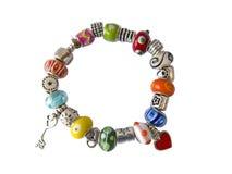 Colorful beads braceler royalty free stock image