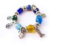 Colorful beads bracelet Stock Photo