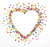 Colorful beads, heart shape Royalty Free Stock Photo