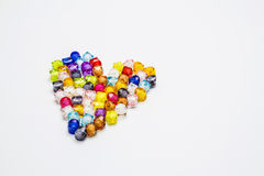 Colorful of beads with heart shape. Stock Photography